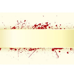 grunge inspired blood splat vector image