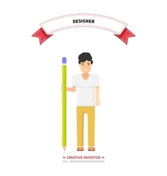 Designer person man creative inventor vector
