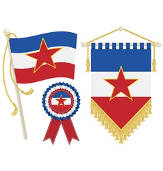 Yugoslavia flags vector