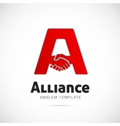 Alliance concept symbol icon or logo template vector