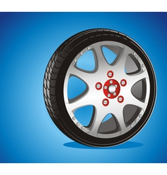 alloy wheel vector image