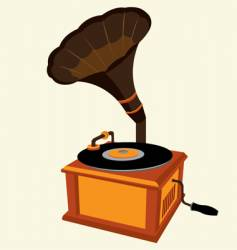 antique record player vector image