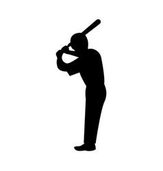 ballplayer the black color icon vector image