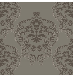 Baoque damask delicate ornament pattern vector