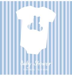 Boy shower card vector