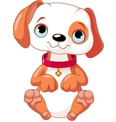 cartoon puppy vector image