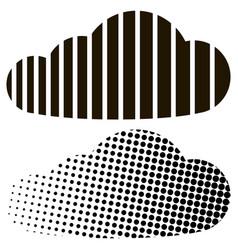 Cloud half tone stripes concept digital cloud vector