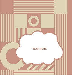 cloud with various item on color background vector image vector image