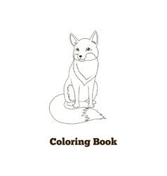 Coloring book forest animal fox cartoon vector image vector image