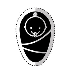 cute baby isolated icon vector image
