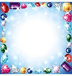 diamonds frame vector image
