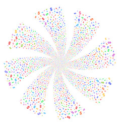 Dollar fireworks swirl flower vector