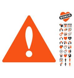 error icon with lovely bonus vector image vector image