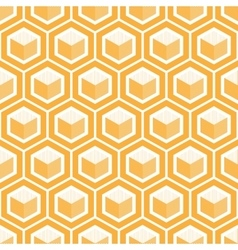 Geometric cube seamless patternfashion graphic vector