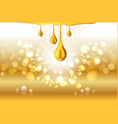 golden oil drops shiny sparkles vector image vector image