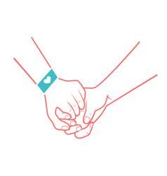hands of people in love vector image vector image