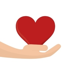 Heart cartoon and holding hand icon vector