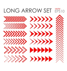Long arrow icon set vector image vector image