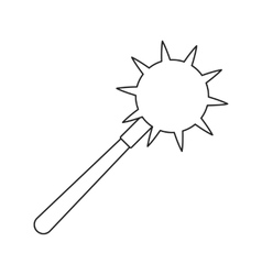 Medieval mace thin line icon vector