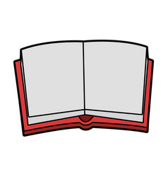 Open book with blank pages icon image vector