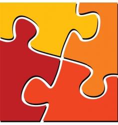 puzzle 01 vector image vector image