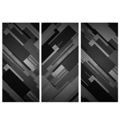 Rectangular vertical banner background vector image