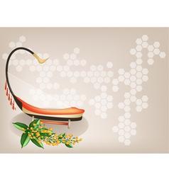 Saung padauk flower background vector