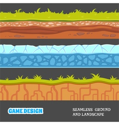 Seamless ground and landscape vector image vector image
