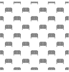 Square fence pattern vector