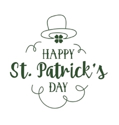 St patricks day typography design vector