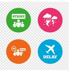 strike icon storm weather and group of people vector image