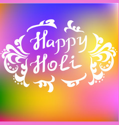 Traditional holi background of india vector