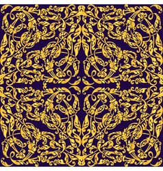 Seamless with vintage gold baroque ornament luxury vector