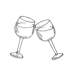 Two glasses of wine vector