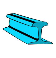 Rail line icon icon cartoon vector