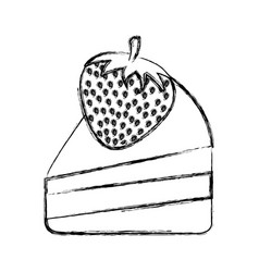 delicious cake isolated icon vector image