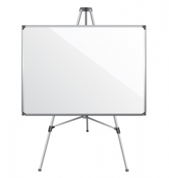 White board vector