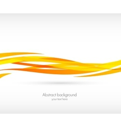 Abstract orange wave background vector image