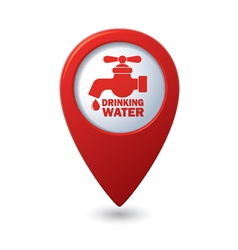 drinking water RED pointer vector image