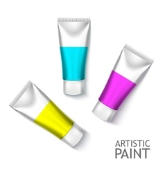 Blank cosmetics packages set tube template vector