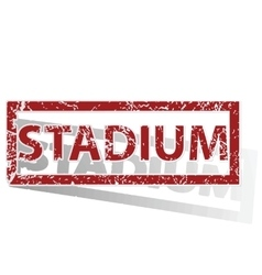 Stadium outlined stamp vector