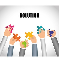 Business solutions design vector