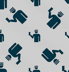 Inspector icon sign seamless pattern with vector