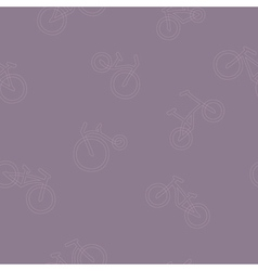 Seamless background with bicycle vector