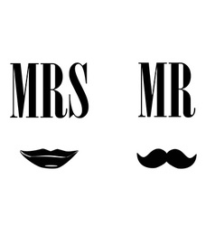 Mrs and mr symbols vector