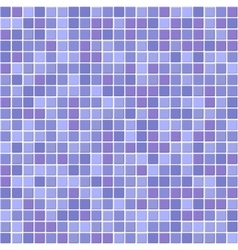 Blue mosaic tiles texture with white filling vector