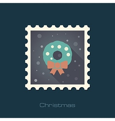 Christmas wreath stamp vector