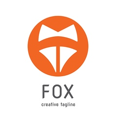 Fox creative logo vector