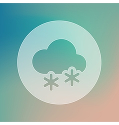 Cloud with snow transparent icon weather vector