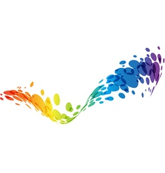 Rainbow abstract wave background vector